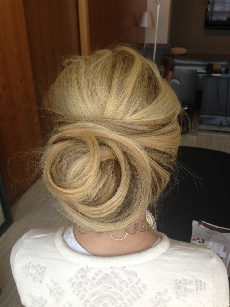 Cool bun idea wedding