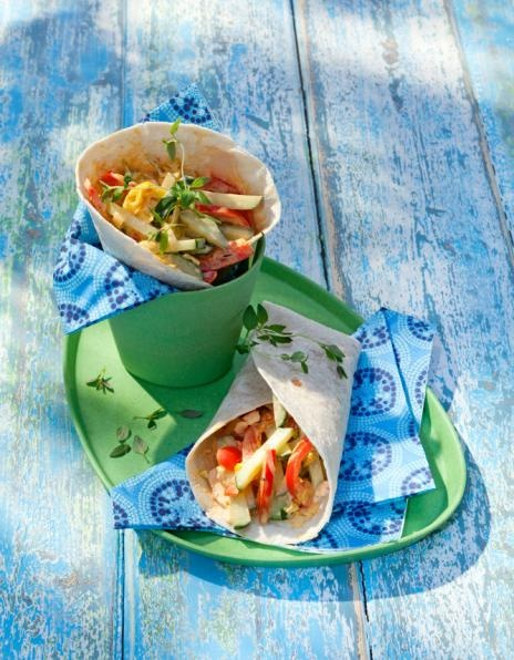 Kurkku-paprikatortillat | K-ruoka #kasvisruoka