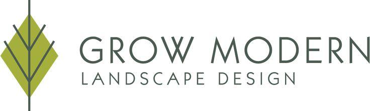 Grow modern landscape design identity logo pinterest for Landscape design logo
