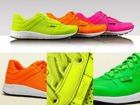 Неоновые кроссовки от Gucci #ModnaKraina