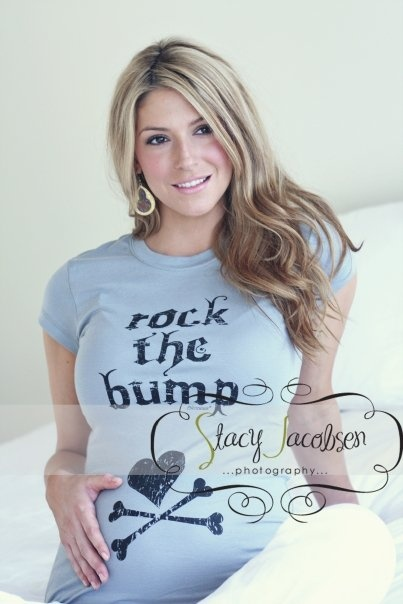 Blessence Rock the Bump - Gray-shirt,top,maternity,clothes,trendy, comfortable,mom,gift,mom 2 be