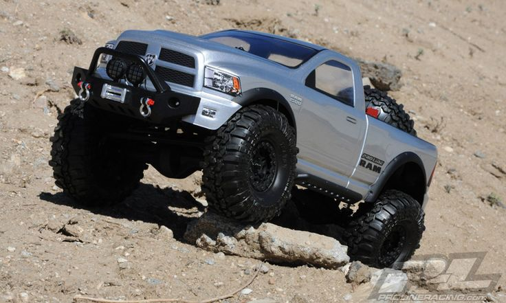 This is the new Pro-Line RAM 1500 for 1:10 Crawlers that was released in September 2014! This will fit today's most popular #rockcrawling #rcrockcrawling #axial kits!  Come see RC Trucks like this at http://www.rcfunfactor.com