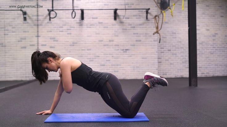 10. Flexión + tocar el hombro contrario