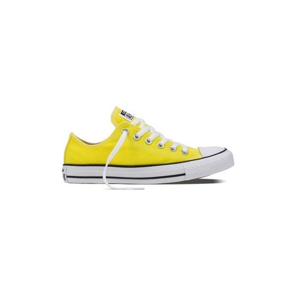Converse Chuck Taylor All Star Fresh Yellow Textile Shoes (Trainers) ($56) ❤ liked on Polyvore featuring shoes, sneakers, trainers, women, yellow, converse trainers, star shoes, converse shoes, textile shoes and yellow trainers