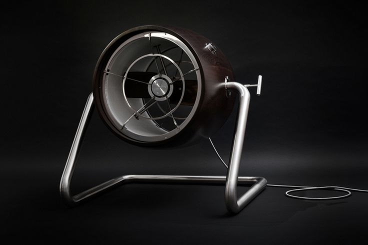 """The """"Black Fan"""" by Polish designer Witold Szostak. A badass name for a very badass fan."""