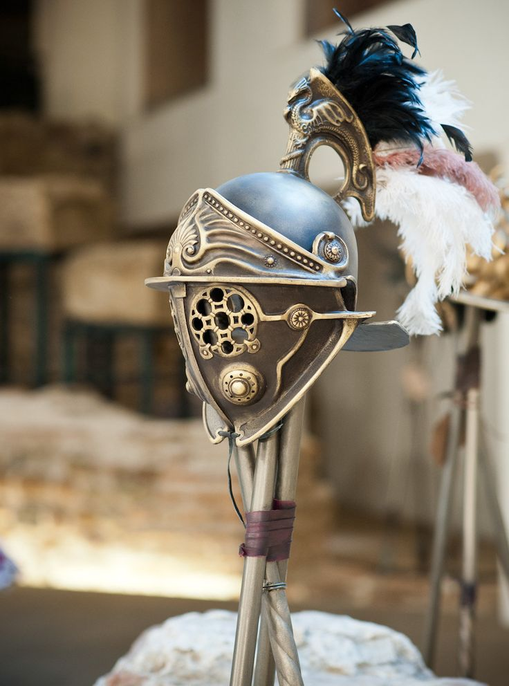 A personal favorite from my Etsy shop https://www.etsy.com/listing/253306067/gladiator-helmet-replicahelmet-with