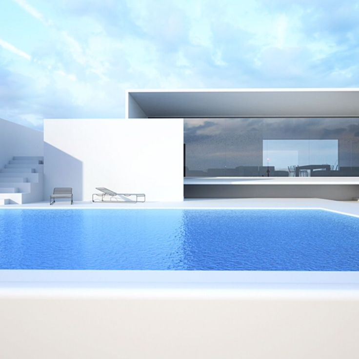 Modern House. Pools are capable of make the difference in luxury projects. They can be square, rectangular or round, but they are a sign of opponency and elegance and can be included in country houses, beach houses or even rooftops. See some excelent decor ideas here: http://www.pinterest.com/homedsgnideas