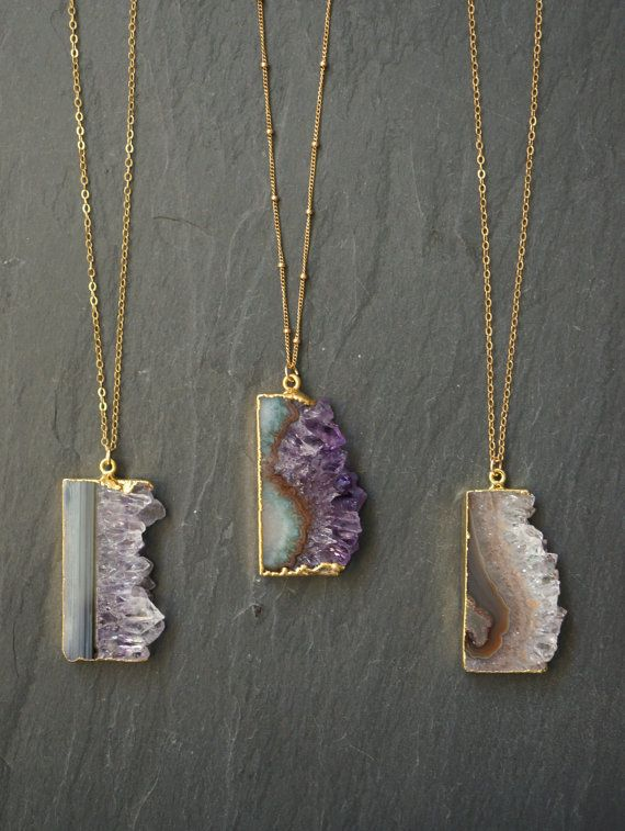 Amethyst Necklace // Amethyst Stalactite // by TheRockStarGoddess