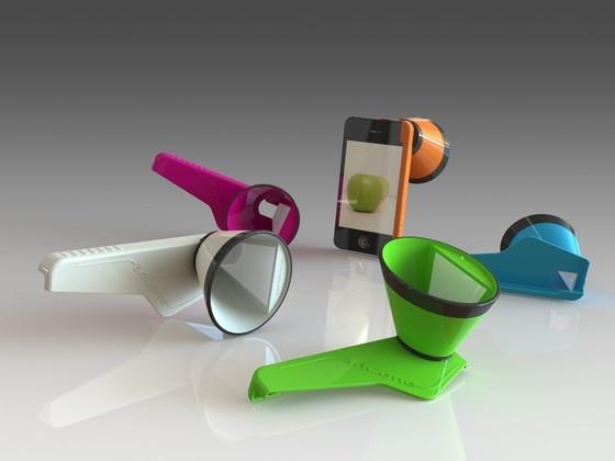 3DCone: make 3D Stills & Videos with your iPhone by Saturn3DDesign, @Kickstarter.