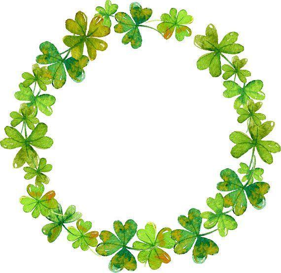Clover Clipart Shamrock Wreath Clover Wreath Minimalis Wreath St Patrick S Day Clipart Watercolor Clipart Greenery Clipart Clover Clipart Clover Wreath Shamrock Art