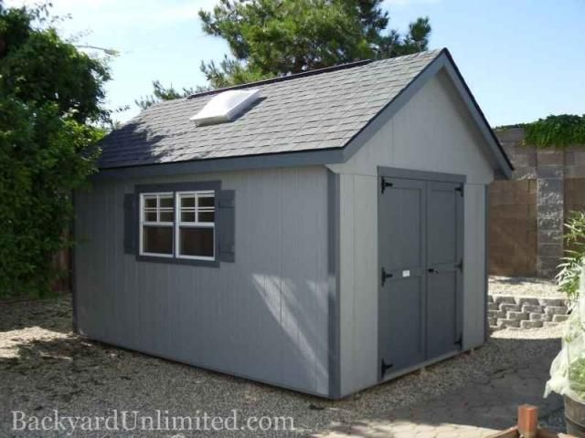10x14 garden shed with ridge vent and skylight httpwww