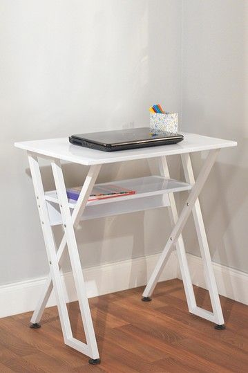 Small desk for a small space!  Small spaces  Pinterest  Computer ...