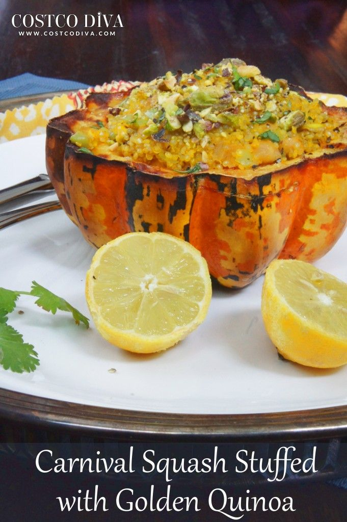 carnival squash stuffed with golden quinoa carnival food stuffed ...