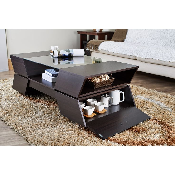 Furniture of America Anjin Enzo Contemporary Two-tone Multi-storage Coffee Table - Overstock™ Shopping - Great Deals on Furniture of America Coffee, Sofa & End Tables