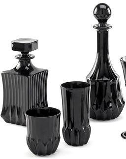 Black Crystal glass wear|Black fashion