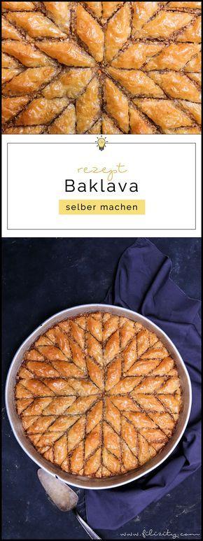 Orientalische Süßspeise: Baklava selber machen   Blätterteig-Gebäck in Zuckersirup   Filizity.com   Food-Blog aus dem Rheinland #baklava #dessert #orientalisch