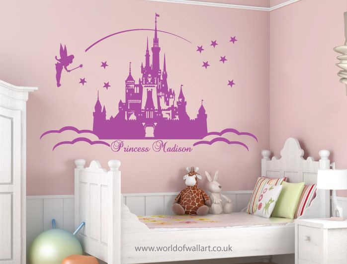 Best 25 disney princess decals ideas on pinterest for Disney princess wall mural stickers