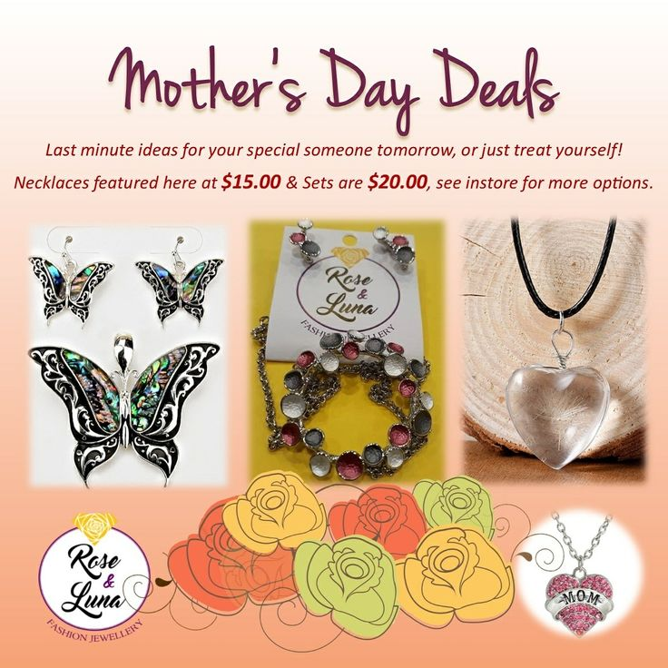 Last minute #Mothersday deals or just an excuse for yourself!  #givejewellery #familyday #roseandluna #sparkleeveryday