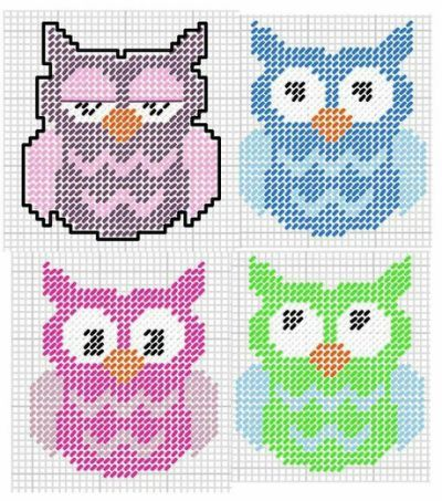 free plastic canvas owl patterns