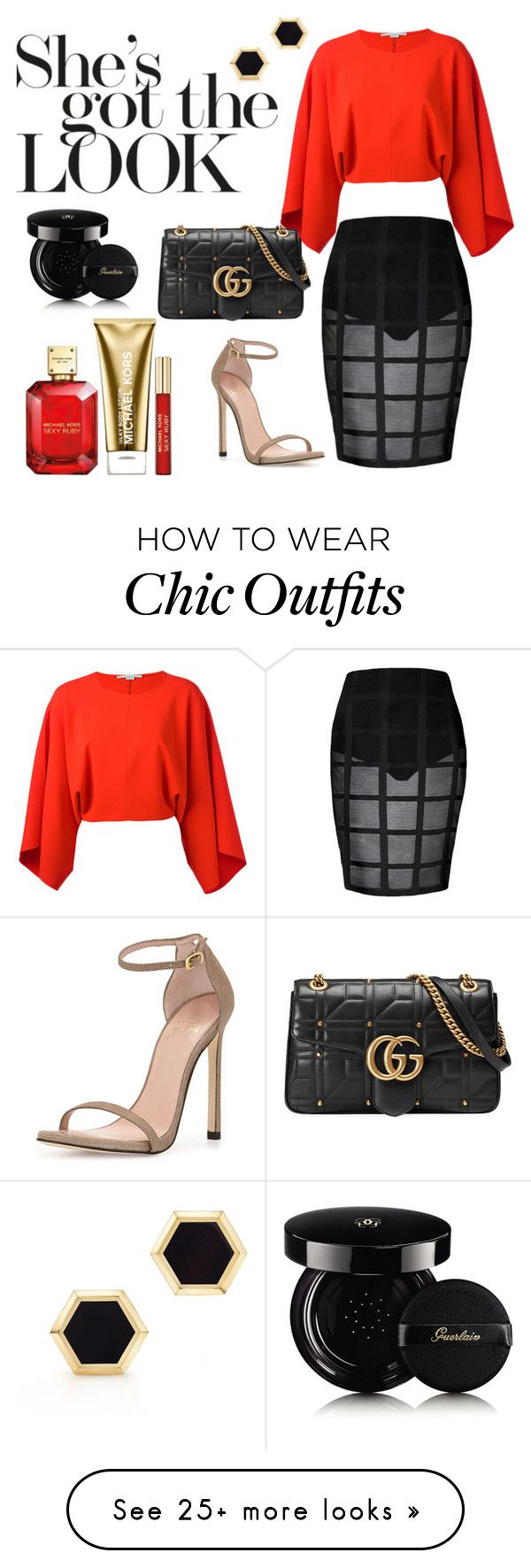 """""""Looking Good!"""" by annastyles101 on Polyvore featuring Stuart Weitzman, STELLA McCARTNEY, Mor, Birks, Michael Kors, Guerlain and Gucci"""
