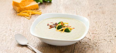 Soupe brocoli, cheddar et parmesan