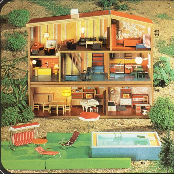 17 best images about hanse dukkehuse on pinterest classic dollhouses and lille for Barbie doll house with swimming pool