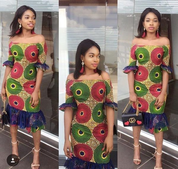 1eb69daff47 30 Latest Short flare Ankara gown styles 2018 -