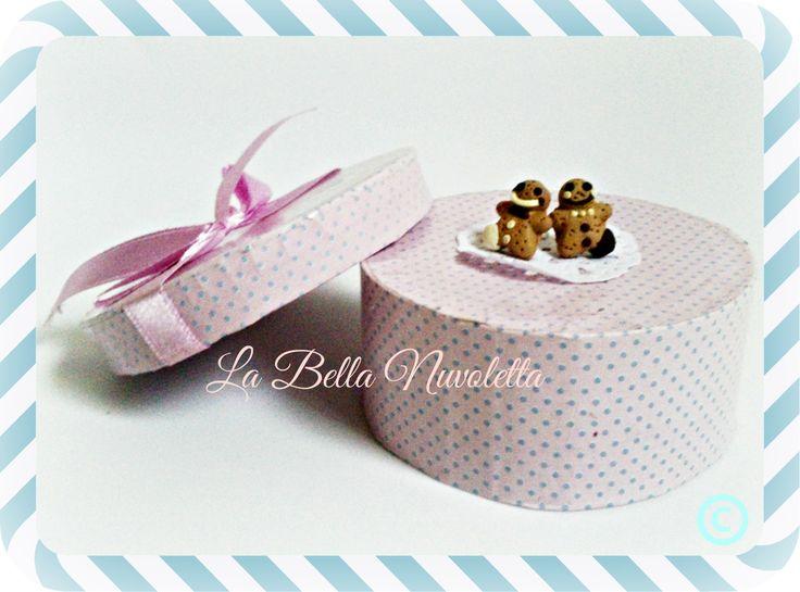 Pendientes boton galletitas gengibre chocolate  labellanuvoletta@gmail.com