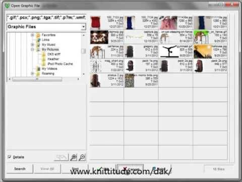 DesignaKnit 8 Graphics Studio Tutorial - Convert A Magazine Chart Into A Stitch Pattern