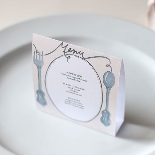 {DIY} Menu {7 different color options} | Photo & template by: Brittany Watson Jepsen, of The House That Lars Built