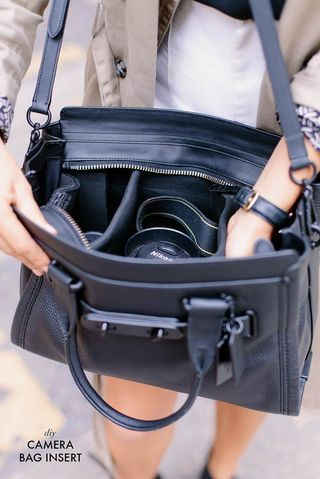 Make your own camera insert to go in a regular bag. Bye bye ugly camera bag!