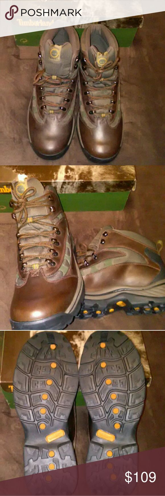 🆕❗ Men's Timberland Boots - Field/Hiking - 13 Men's Timberland Boots -    Hiking/Field Style (Reasonable Offers Considered) ✓Brand NEW! (Not Worn) ✓Color: Brown + Green ✓Size: 13 ✓Leather & Mesh Upper ✓Outdoor Performance ✓In Original Box  ** Should ship within 12-24 hours of purchase!! Timberland Shoes Boots