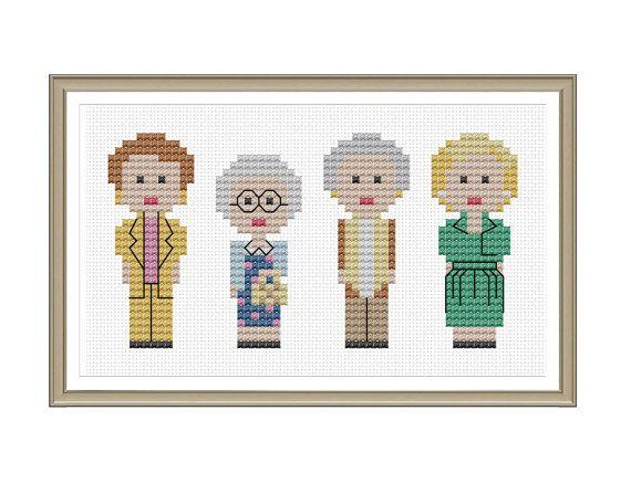 Golden Girls Cross Stitch Pattern PDF Instant Download