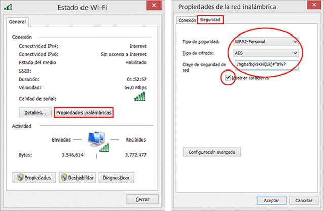 Ver la contraseña Wi-Fi en Windows 8 u 8.1