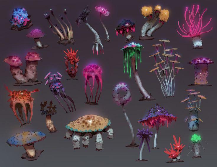 Goblins in Space - Mushrooms, Alex Konstad on ArtStation at…