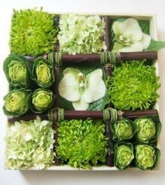 Centrotavola insalata e fiori