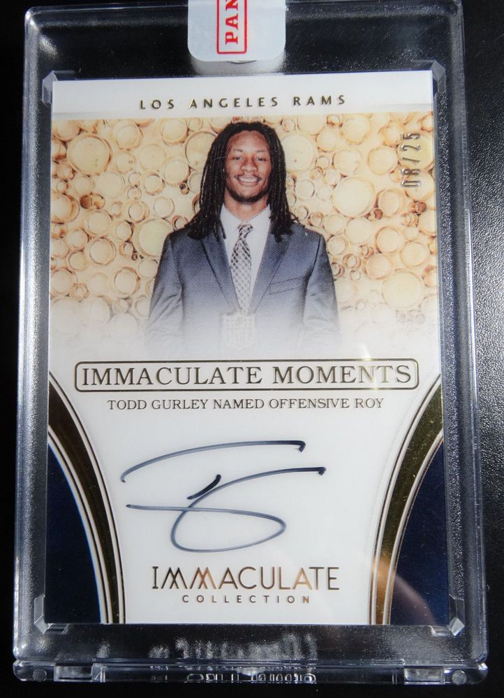 2016 Immaculate #TG-2 Todd Gurley Rams Moments Auto Autograph 8/25 Football Card #LosAngelesRams