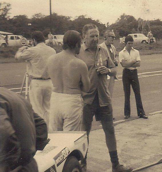 Paddy Driver (back to camera) Doug Surrurier and Basil van Rooyen