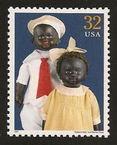 Alabama Baby & Martha Chase Classic American Dolls Black Heritage US Stamp MINT!