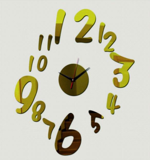 Nástenné hodiny ,Stunden, wall clock, spiegeltakt, zegar lustro