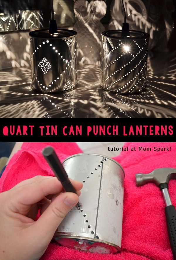 How to make the cutest tin can lights!