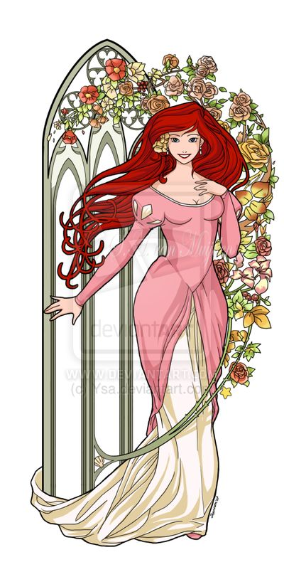 Disney Cast: Art Nouveau + Disney - Parte 7: Princesas, por Ysa