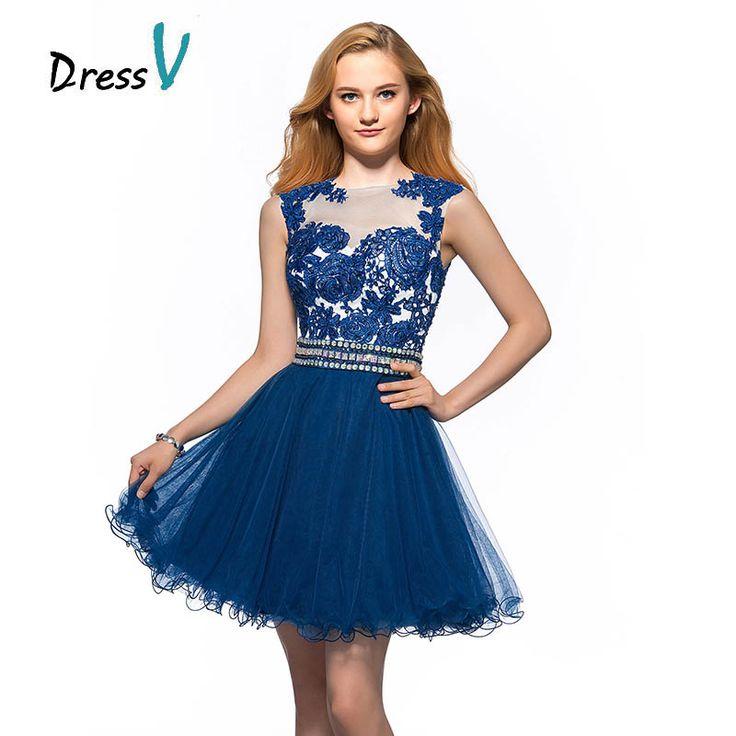 Новые поступления синие короткие мини вечерние коктейльные платья на выпускной пышная юбка с аплликацией из синих цветов А силуэт для школьников без рукавов