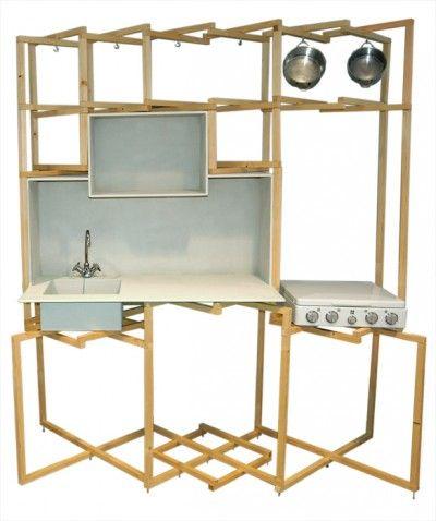 Foldable Kitchen | david derksen David Derksen is in 2009 afgestudeerd aan de Design Academy in Eindhoven. Hij heeft zijn MSc diploma in 2011 gehaald in Industrial Design aan de TU in Delft. Zijn studio is in Rotterdam