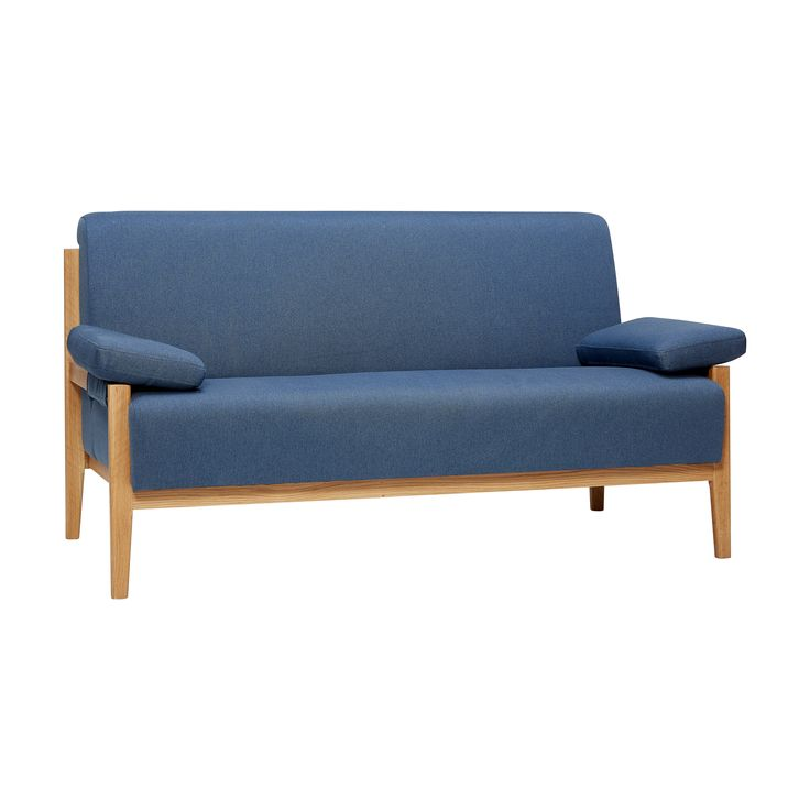 Deep blue sofa for 2 people. Product number: 100306 - Designed by Hübsch