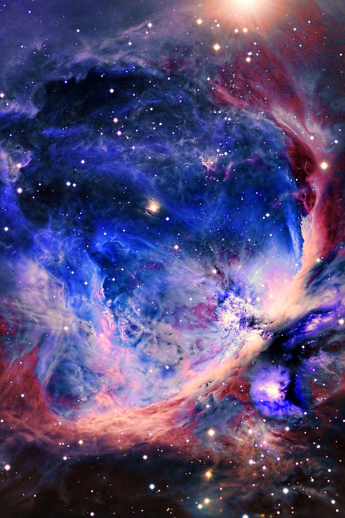 Orion Nebula. Closest star forming region to the Sun.