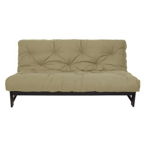 Mozaic Full Size 6-Inch Futon Mattress, Khaki by Mozaic. $122.74. 75-inch by 54-inch by 6-inch thick. Cotton wrapped foam. Completely reversible. The 6-inch futon mattress is constructed of cotton wrapped foam with a durable cotton cover. It is lace tufted with white thread. The futon mattress is completely reversible. It ships vacuum packed bagging inside a box. Please allow several days for the mattress to return to its full loft and for the wrinkles in the cotton cover t...
