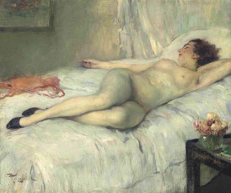 Fernand Toussaint  (1873-1955) - Nu couché, n.d.