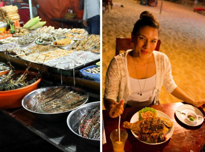 Eat lavish seafood at the Night at Can Dao Island.
