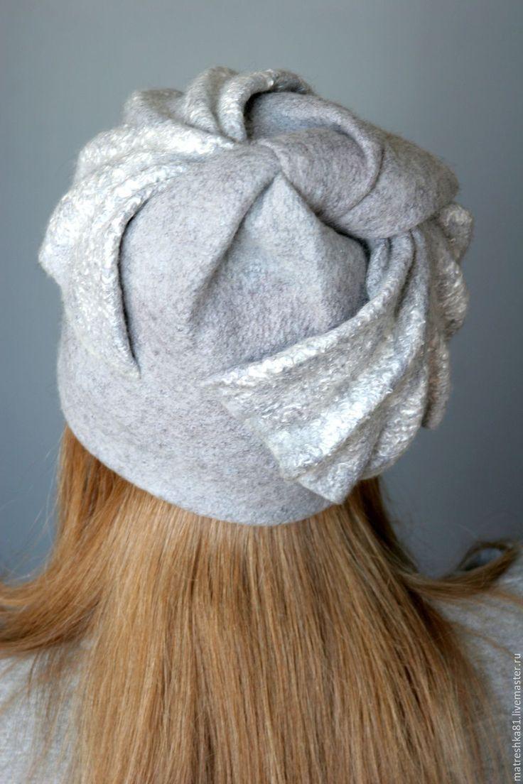 Купить Шапка валяная...серая - шапка, шапка валяная, валяная шапка, шапка из войлока